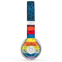 The Rainbow Colored Water Stripes Skin for the Beats by Dre Solo 2 Headphones