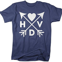 Shirts By Sarah Men's Hipster HVD Valentine's Day T-Shirt Arrows Happy Shirts