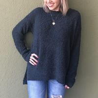 Popping Into Winter Sweater- Emerald