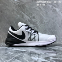 hcxx N1216 Nike Air Zoom 2019 Structure shield Mesh breathable running shoes white black