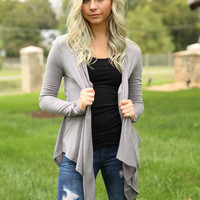 Smooth It Over Cardigan - Heather Grey