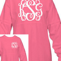 Youth Monogram Spirit Shirt Personalized Pom Pom Jersey
