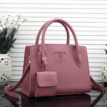 Prada Hot Two-piece Set Classic Tote Bag Handbag Ladies Shoulder Messenger Bag
