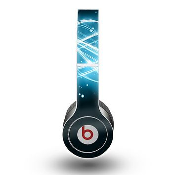 The Abstract Glowing Blue Swirls Skin for the Beats by Dre Original Solo-Solo HD Headphones