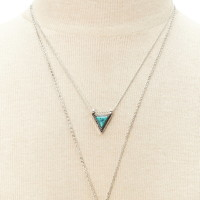 Layered Faux Stone Necklace | Forever 21 - 1000177437