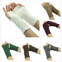 Hand Arm Crochet Knitting Wool Gloves