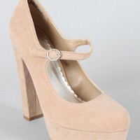 Bamboo Luscious-17 Mary Jane Pump