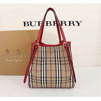 BURBERRY WOMEN'S LEATHER THE CANTER SHOULDER BAG TOTE BAG