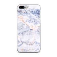 Cold Blue Marble Custom iPhone Case