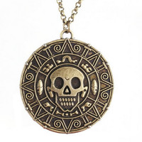 Pirates of the Caribbean Inspired Coin Necklace - Memorabilia Fan Item Novelty Fashion Wear Jewelry