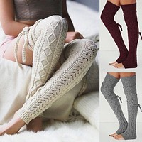 Women's Knitted Winter Leg Warmers