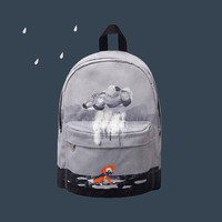 Raining Day Canvas Backpack