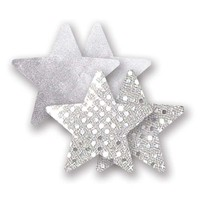 Bristols Six | Nippies Nipple Cover Pasties Concealers Adhesive Silver Star