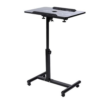 Removable Laptop Table Stand With Wheels Fan Bed Sofa Books Snack Laptop Desk Portable Multifunctional Notebook Computer Desk