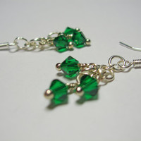 Simply Swarovski Earrings (emerald)