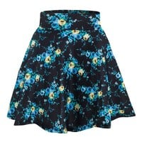 PRINTED SKATER GIRL SKIRT - PLUS SIZE