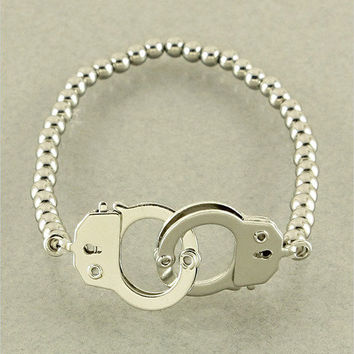 Silver Handcuff Bracelet from p.s. I Love You More Boutique