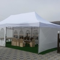 4*8m sun shading tenda /  garden gazebo / folding tent / big gazebo , 6 pieces full walls 4 meters connected by zipper, white