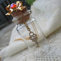 Sailor Moon Necklace - KEY of Space-Time in a  BOTTLE - Sailor Senshi Jewelry