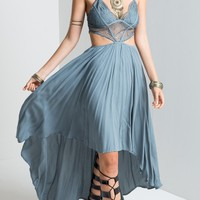 Bohemian and Gypsy Style Spaghetti Strap Maxi Dress