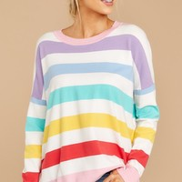 Mind's Elation Rainbow Stripe Top
