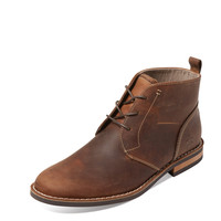 Original Penguin Men's Merle Leather Chukka Boot - Dark Brown -