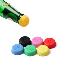 Delidge 6 pcs/set 3.1 cm Beer Bottle Cap Silicone Colorful Wine Stoppers Leak Free Wine Bottle Sealers For Red Wine Bottle Cap