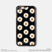 Daisy Flower Floral Black iPhone 6 6Plus case iPhone 5s case iPhone 5C case iPhone 4 4S case Samsung galaxy Note 2 Note 3 Note 4 S3 S4 S5 case 768
