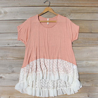 Honey & Lace Cozy Tee in Pink