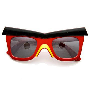 Novelty Video Game Bird Brow Mask Costume Sunglasses 8625
