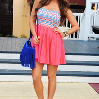 Search My Heart Dress: Neon Pink