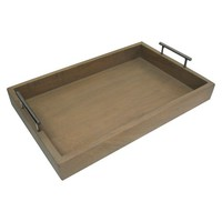 Threshold™ Whitewash Tray with Silver Handles