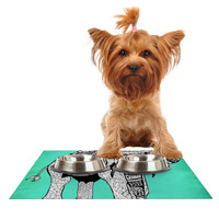 """Pom Graphic Design """"Elephant of Namibia Color"""" Dog Place Mat"""