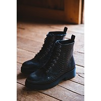 Lotus Lace Up Combat Boot, Black | Coconuts by Matisse