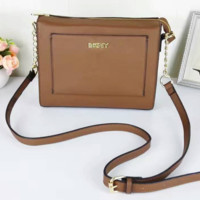 DKNY Women Shopping Leather Metal Chain Crossbody Satchel Shoulder Bag Coffee