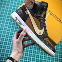 Louis Vuitton Lv X Off White X Nike Air Jordan 1 Sport Basketball Shoes - Best Online Sale