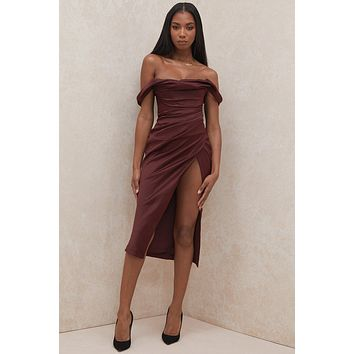 fhotwinter19 new women's sexy fashion strapless skirt with pile collar folds and slit