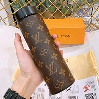 LV Coffee Monogram Water Cup 304 Stainless Steel Vacuum Smart Temperature Insulation Cup