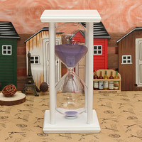 60 Minutes Wooden Frame Sandglass Hourglass Sand Timer Home Decor Gift