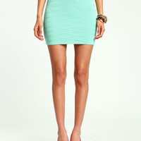 Mint Bandage Knit Skirt