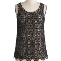ModCloth Mid-length Sleeveless Sprout Journal Top