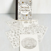 Rustic Color Me Vine Postcard Set by Chronicle Books from ModCloth
