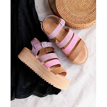 Musse & Cloud - Kaila Platform Sandals in Lilac