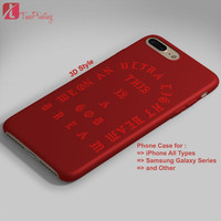 Kanye West Ultralight Beam - Personalized iPhone 7 Case, iPhone 6/6S Plus, 5 5S SE, 7S Plus, Samsung Galaxy S5 S6 S7 S8 Case, and Other