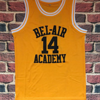 The Fresh Prince Of Bel Air Academy Jersey #14 Will Smith Black Yellow Mens jersey All Stitched