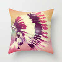 Native American dream Throw Pillow by Amy McCuiston