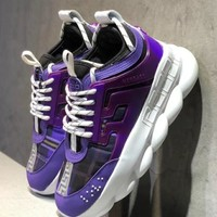 Versace Chain Reaction Sneakers - Purple