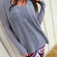 Dark Gray Piko Knit