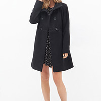 FOREVER 21 Stand Collar Swing Coat