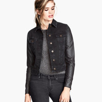 H&M - Denim Jacket - Black - Ladies